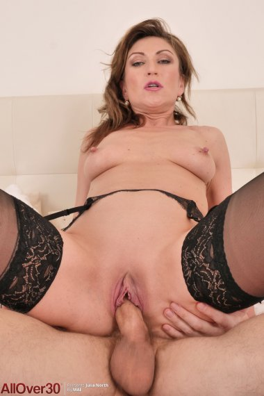 Hot MILF Julia North just sucking and fucking with lover